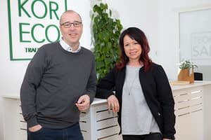 Ägarna av Kör Eco Johanna Edelönn och Bo Andersson